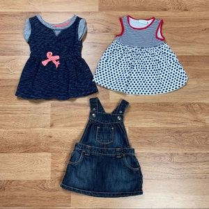 Baby Girl 12 Months Dress Bundle Lot